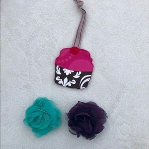 thirty-one Luggage Tag Rossettes (2) Plum
